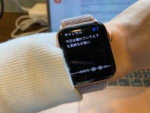Apple Watch 音声入力
